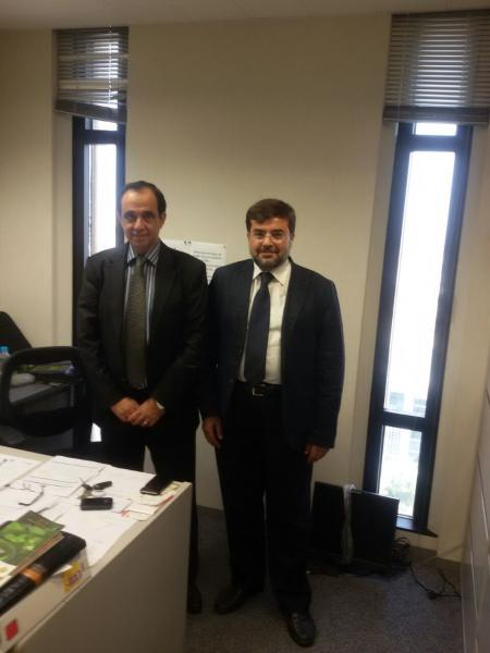 With Mr. Bouzid Ottman, FCIC Responsible Senior Specialist in the IDB OPSD